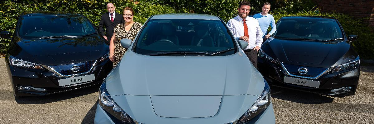 Council's new green fleet on 10th anniversary of LEAFs on Sunderland